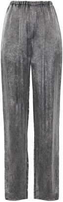 Balenciaga Gathered Denim-effect Woven Wide-leg Pants