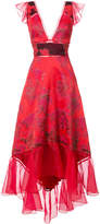 Marchesa jacquard asymmetric gown