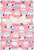 Cutie Pie Baby 30'' x 32'' Pink & Blue Velboa Stroller Blanket & Hanger