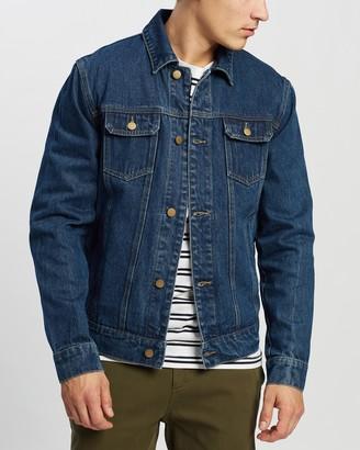 Staple Superior - Men's Blue Denim jacket - Denim Trucker Jacket - Size XS at The Iconic
