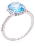 Meira T 14K White Gold, Blue Topaz & 0.19 Total Ct. Diamond Ring