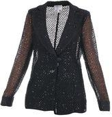 Armani Collezioni Macrame Blazer With Sequins Application
