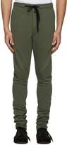 Ann Demeulemeester Green Button Lounge Pants