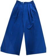 John Galliano Blue Wool Trousers for Women