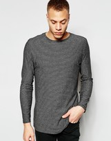 Cheap Monday Long Sleeve Top Forsee Stripe In Black