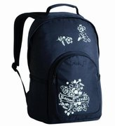 Lassig Marv Backpack Blossoms and Leaves, Black by