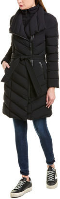 Mackage Ilena Leather-Trim Down Coat