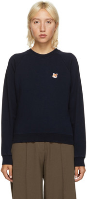 MAISON KITSUNÉ Navy Fox Head Sweatshirt