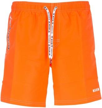 MSGM X Sundek Logo Swim Shorts