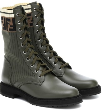 Fendi Leather biker boots