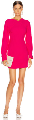 Victoria Beckham Open Back Long Sleeve Mini Dress in Fuchsia | FWRD