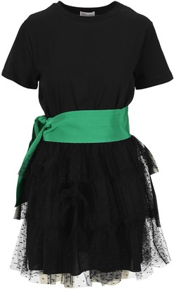 RED Valentino Tulle Bow T-Shirt Dress