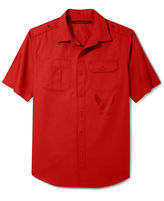 Sean John Shirt Big and Tall, Solid Twill Short Sleeve Shirt