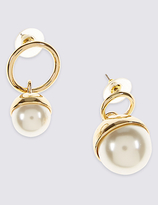 M&S Collection Mixed Pearl Ball Drop Earrings