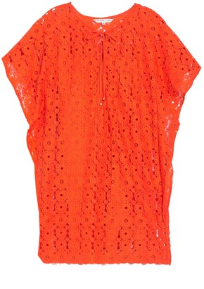 Trina Turk Wyeth Floral Lace Kimono Dress