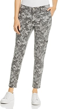 b new york Camo Print Skinny Cargo Pants