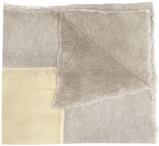 Avant Toi square print dyed scarf