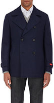 Isaia Men's Double-Faced Wool-Cashmere Peacoat-NAVY