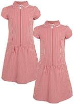 John Lewis Girls' The Basics School Summer Dress, Pack of 2
