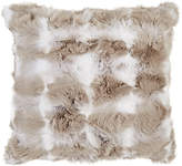 Adrienne Landau Optic-Pattern Rabbit Fur Pillow