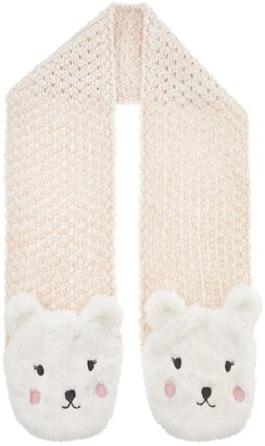 Accessorize Girls Polar Bear Scarf - Ivory