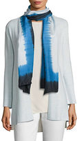Eileen Fisher Patterned Silk Scarf