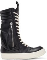 Rick Owens Black Cargobasket High-top Sneakers