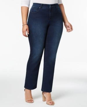 Charter Club Plus Size & Petite Plus Size Lexington Tummy-Control Straight-Leg Jeans, Created for Macy's