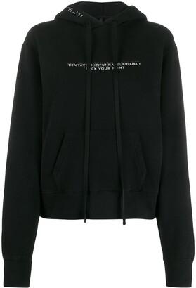 Unravel Project slogan print hoodie