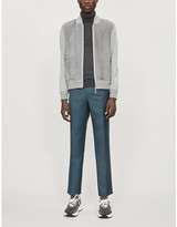 Ermenegildo Zegna Suede, cashmere, cotton and silk-blend bomber jacket