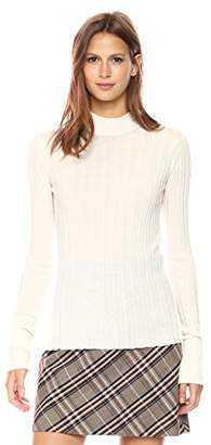 Theory Women's Wide Rib Mock Po Top
