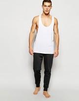Asos Loungewear Skinny Joggers In Charcoal