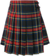 P.A.R.O.S.H. check pleated short skirt