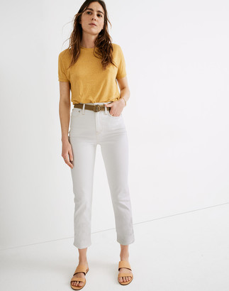 Madewell Tall Classic Straight Jeans in Tile White