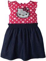 Hello Kitty Woven Dress (Baby/Toddler) - Antique Fuchsia-2T