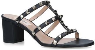 Valentino Garavani Rockstud Block Sandals 60