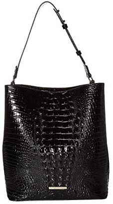 Brahmin Melbourne Large Amelia Bucket Bag (Black) Handbags