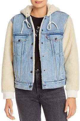 Levi's Ex-Boyfriend Sherpa Sleeve Denim Trucker Jacket