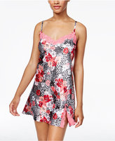 Thalia Sodi Leo Lace-Trimmed Floral-Print Chemise, Only at Macy's