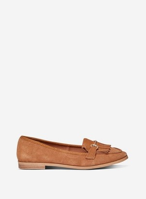 Dorothy Perkins Womens Tan Leather 'Lime' Loafers