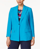 Anne Klein Plus Size Single-Button Blazer