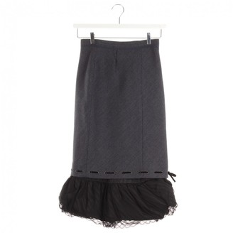Louis Vuitton Blue Wool Skirt for Women