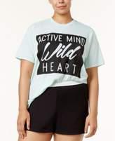 Soffe Plus Size Active Statement-Print T-Shirt