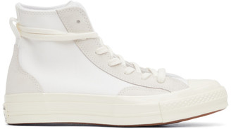 Converse White and Grey Final Club Chuck 70 High Sneakers