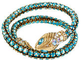 Betsey Johnson Ocean Drive Snake Faceted Bead Coil Bracelet