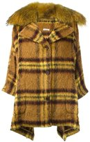 P.A.R.O.S.H. checked mid-length coat - women - Polyamide/Polyester/Mohair/Virgin Wool - S