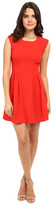 Brigitte Bailey Delaney Cap Sleeve Pleated Dress