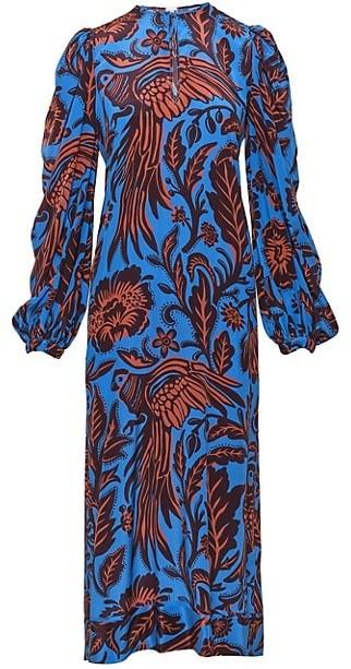 Johanna Ortiz Indus Valley Printed Silk Dress