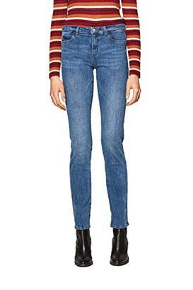 Esprit Women's 019ee1b004 Straight Jeans, (Blue Medium Wash 902), W26/L32