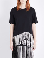 Jil Sander Ruffled cotton-jersey top